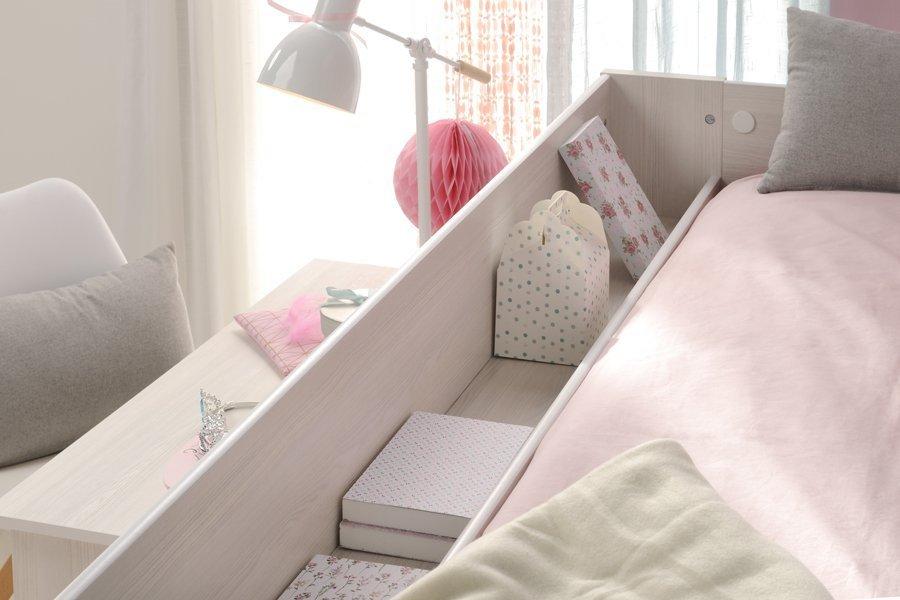 halvhøy seng