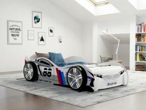 hvit bilseng