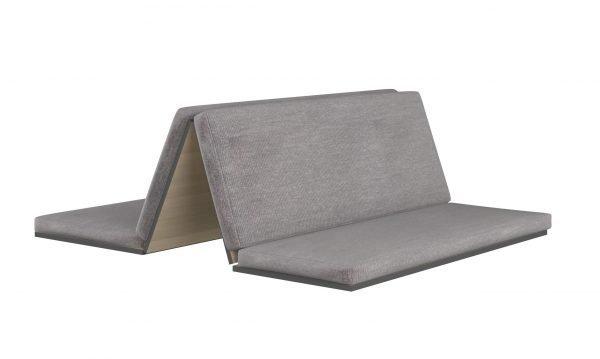 loftseng med sofa