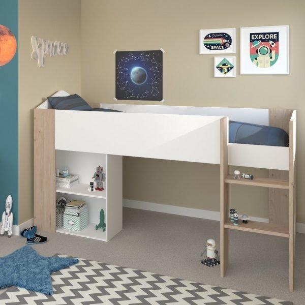 halvhøy seng for barn