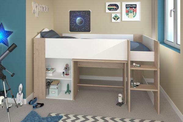 halvhøy seng shelter